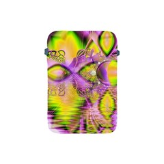 Golden Violet Crystal Heart Of Fire, Abstract Apple iPad Mini Protective Sleeve
