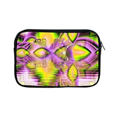 Golden Violet Crystal Heart Of Fire, Abstract Apple iPad Mini Zippered Sleeve