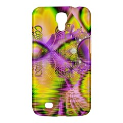 Golden Violet Crystal Heart Of Fire, Abstract Samsung Galaxy Mega 6.3  I9200 Hardshell Case
