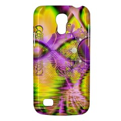 Golden Violet Crystal Heart Of Fire, Abstract Samsung Galaxy S4 Mini (gt I9190) Hardshell Case
