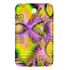 Golden Violet Crystal Heart Of Fire, Abstract Samsung Galaxy Tab 3 (7 ) P3200 Hardshell Case
