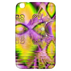 Golden Violet Crystal Heart Of Fire, Abstract Samsung Galaxy Tab 3 (8 ) T3100 Hardshell Case