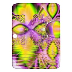 Golden Violet Crystal Heart Of Fire, Abstract Samsung Galaxy Tab 3 (10.1 ) P5200 Hardshell Case