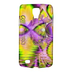 Golden Violet Crystal Heart Of Fire, Abstract Samsung Galaxy S4 Active (I9295) Hardshell Case