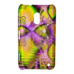 Golden Violet Crystal Heart Of Fire, Abstract Nokia Lumia 620 Hardshell Case