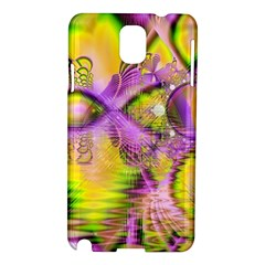 Golden Violet Crystal Heart Of Fire, Abstract Samsung Galaxy Note 3 N9005 Hardshell Case