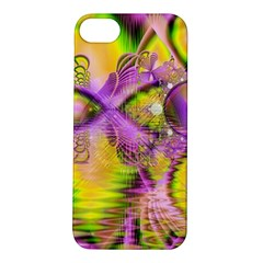 Golden Violet Crystal Heart Of Fire, Abstract Apple Iphone 5s Hardshell Case