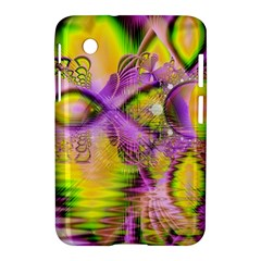 Golden Violet Crystal Heart Of Fire, Abstract Samsung Galaxy Tab 2 (7 ) P3100 Hardshell Case