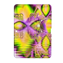 Golden Violet Crystal Heart Of Fire, Abstract Samsung Galaxy Tab 2 (10.1 ) P5100 Hardshell Case
