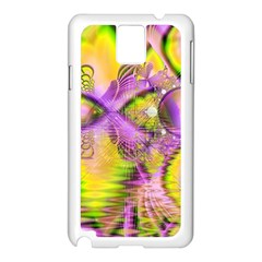 Golden Violet Crystal Heart Of Fire, Abstract Samsung Galaxy Note 3 N9005 Case (white)