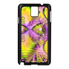 Golden Violet Crystal Heart Of Fire, Abstract Samsung Galaxy Note 3 N9005 Case (Black)