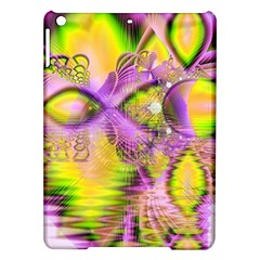 Golden Violet Crystal Heart Of Fire, Abstract Apple iPad Air Hardshell Case