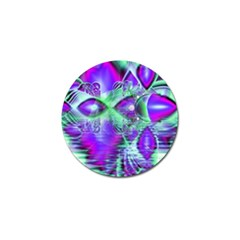Violet Peacock Feathers, Abstract Crystal Mint Green Golf Ball Marker