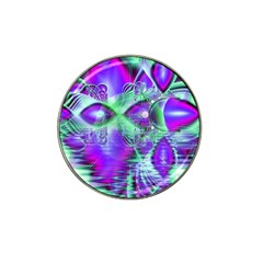 Violet Peacock Feathers, Abstract Crystal Mint Green Golf Ball Marker (for Hat Clip)