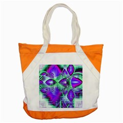 Violet Peacock Feathers, Abstract Crystal Mint Green Accent Tote Bag
