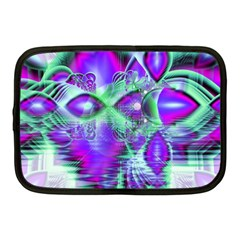 Violet Peacock Feathers, Abstract Crystal Mint Green Netbook Sleeve (Medium)
