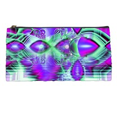 Violet Peacock Feathers, Abstract Crystal Mint Green Pencil Case