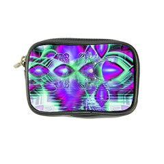 Violet Peacock Feathers, Abstract Crystal Mint Green Coin Purse