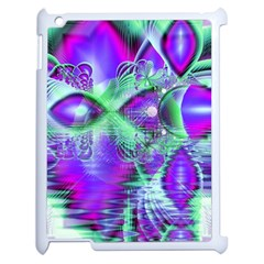 Violet Peacock Feathers, Abstract Crystal Mint Green Apple Ipad 2 Case (white)