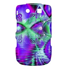 Violet Peacock Feathers, Abstract Crystal Mint Green BlackBerry Torch 9800 9810 Hardshell Case