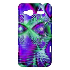 Violet Peacock Feathers, Abstract Crystal Mint Green HTC Radar Hardshell Case