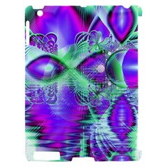 Violet Peacock Feathers, Abstract Crystal Mint Green Apple iPad 2 Hardshell Case (Compatible with Smart Cover)