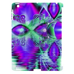 Violet Peacock Feathers, Abstract Crystal Mint Green Apple Ipad 3/4 Hardshell Case (compatible With Smart Cover)