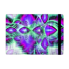 Violet Peacock Feathers, Abstract Crystal Mint Green Apple iPad Mini Flip Case