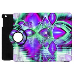 Violet Peacock Feathers, Abstract Crystal Mint Green Apple iPad Mini Flip 360 Case