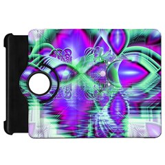 Violet Peacock Feathers, Abstract Crystal Mint Green Kindle Fire HD 7  (1st Gen) Flip 360 Case