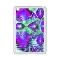 Violet Peacock Feathers, Abstract Crystal Mint Green Apple iPad Mini 2 Case (White)