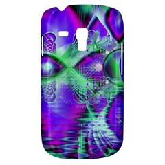 Violet Peacock Feathers, Abstract Crystal Mint Green Samsung Galaxy S3 Mini I8190 Hardshell Case