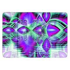 Violet Peacock Feathers, Abstract Crystal Mint Green Samsung Galaxy Tab 8.9  P7300 Flip Case