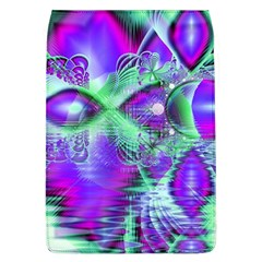 Violet Peacock Feathers, Abstract Crystal Mint Green Removable Flap Cover (large)
