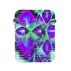 Violet Peacock Feathers, Abstract Crystal Mint Green Apple Ipad Protective Sleeve