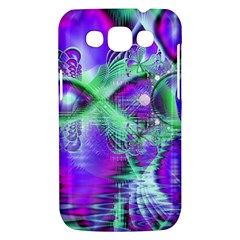 Violet Peacock Feathers, Abstract Crystal Mint Green Samsung Galaxy Win I8550 Hardshell Case