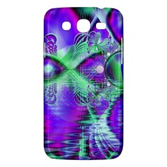 Violet Peacock Feathers, Abstract Crystal Mint Green Samsung Galaxy Mega 5.8 I9152 Hardshell Case