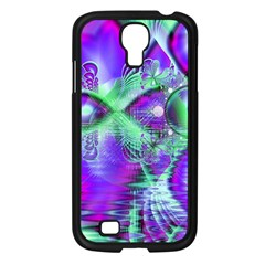Violet Peacock Feathers, Abstract Crystal Mint Green Samsung Galaxy S4 I9500/ I9505 Case (Black)