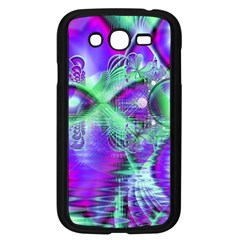 Violet Peacock Feathers, Abstract Crystal Mint Green Samsung Galaxy Grand DUOS I9082 Case (Black)