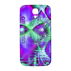 Violet Peacock Feathers, Abstract Crystal Mint Green Samsung Galaxy S4 I9500/I9505  Hardshell Back Case