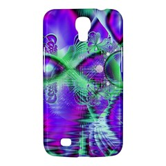 Violet Peacock Feathers, Abstract Crystal Mint Green Samsung Galaxy Mega 6 3  I9200 Hardshell Case