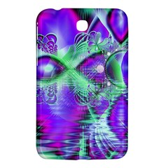 Violet Peacock Feathers, Abstract Crystal Mint Green Samsung Galaxy Tab 3 (7 ) P3200 Hardshell Case