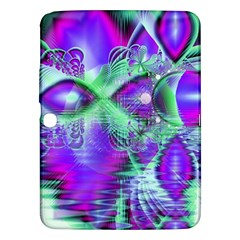 Violet Peacock Feathers, Abstract Crystal Mint Green Samsung Galaxy Tab 3 (10.1 ) P5200 Hardshell Case