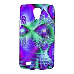 Violet Peacock Feathers, Abstract Crystal Mint Green Samsung Galaxy S4 Active (I9295) Hardshell Case