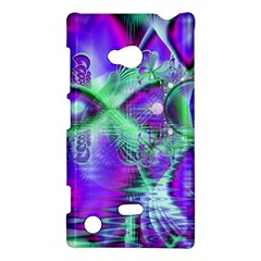 Violet Peacock Feathers, Abstract Crystal Mint Green Nokia Lumia 720 Hardshell Case