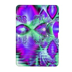 Violet Peacock Feathers, Abstract Crystal Mint Green Samsung Galaxy Tab 2 (10.1 ) P5100 Hardshell Case
