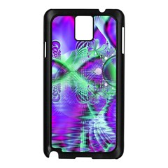 Violet Peacock Feathers, Abstract Crystal Mint Green Samsung Galaxy Note 3 N9005 Case (Black)