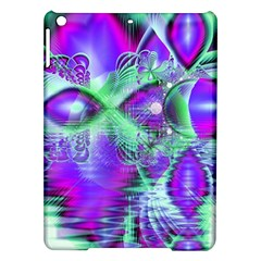Violet Peacock Feathers, Abstract Crystal Mint Green Apple iPad Air Hardshell Case