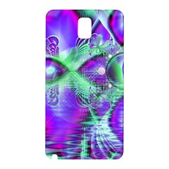 Violet Peacock Feathers, Abstract Crystal Mint Green Samsung Galaxy Note 3 N9005 Hardshell Back Case
