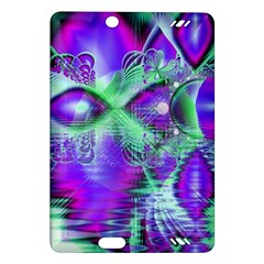 Violet Peacock Feathers, Abstract Crystal Mint Green Kindle Fire HD 7  (2nd Gen) Hardshell Case